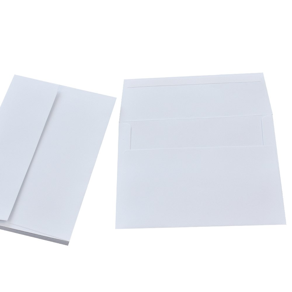 100 Pack White A1 Envelopes -Quick Self Seal 5.125 x 3.625 Inches 3.5 x 5 Envelopes A1