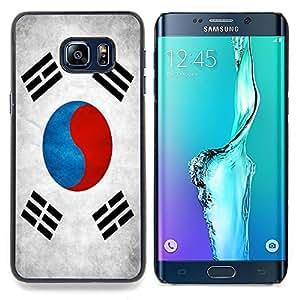 """Qstar Arte & diseño plástico duro Fundas Cover Cubre Hard Case Cover para Samsung Galaxy S6 Edge Plus / S6 Edge+ G928 (Bandera nacional de la Serie-Corea del Sur"""")"""