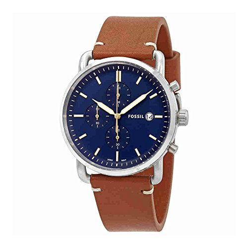 Fossil Men's 'The Commuter' Quartz Stainless Steel and Leath