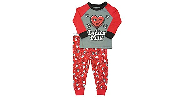 Amazon.com: Walmart Infant Toddler Boy Gray Red Ladies Man Sleepwear Set Hearts Love Pajamas PJs: Clothing