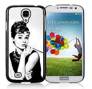 Unique S4 Case,Audrey Hepburn Breakfast at Tiffanys Black Phone Case For Samsung Galaxy S4 Cover Case