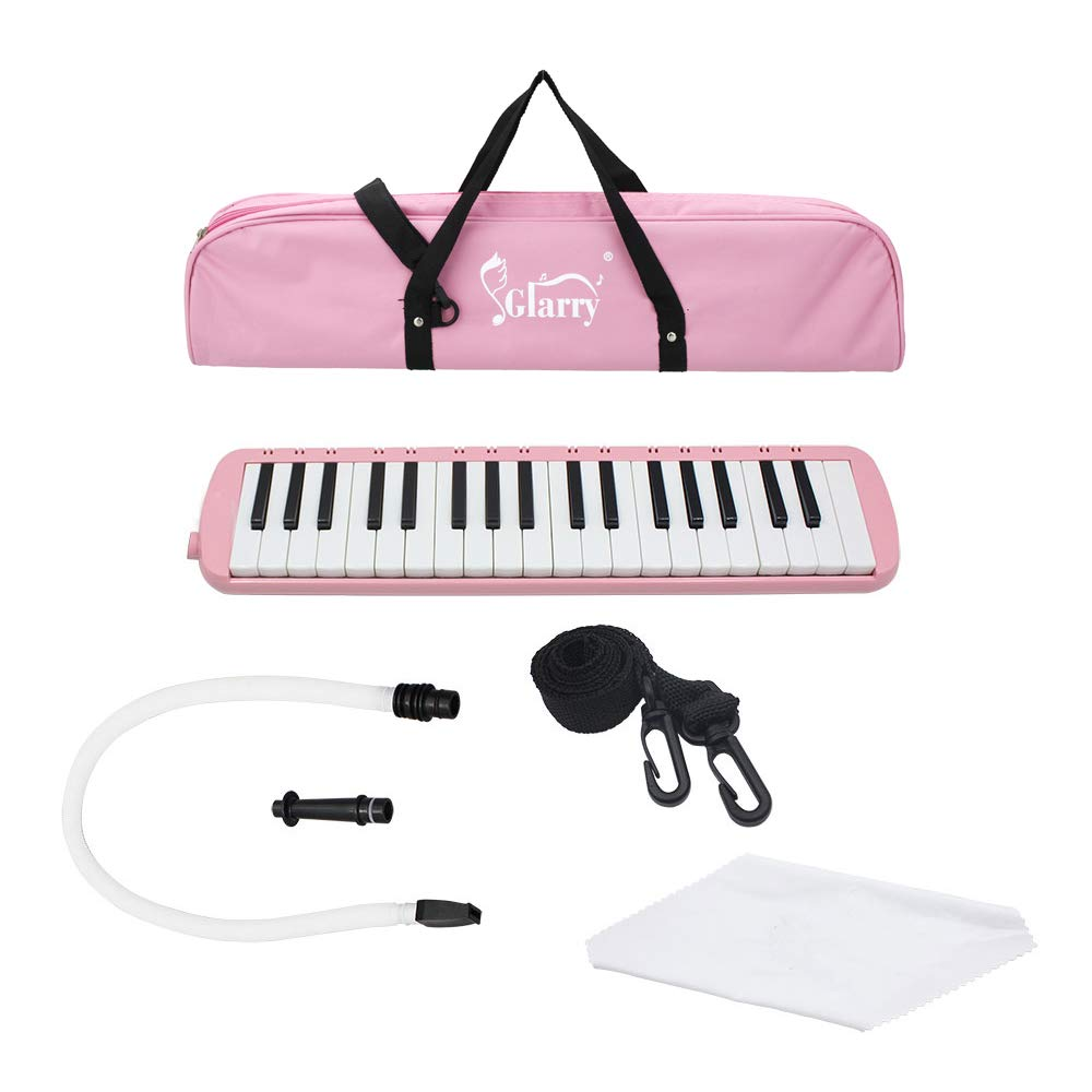 Glarry 37-Key Melodica with Mouthpiece & Hose & Bag Pink by funning (Image #6)