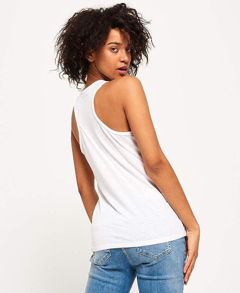 Superdry Damen Burnout Pocket Vest Pullunder