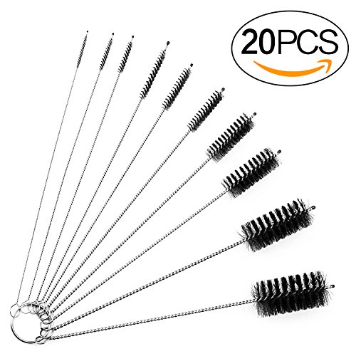 8 Inch Cleaning Brush Straw Pipe Cleaner Brushes Set, 20 (Cleaning Drinking Fountains)