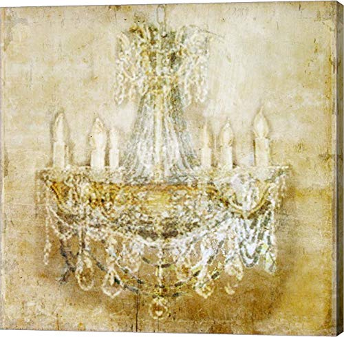 Chandelier 2 by Symposium Design Canvas Art Wall Picture, Gallery Wrap, 39 x 39 inches