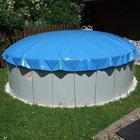 SAXONICA - Cubierta hinchable para piscina, diámetro de 460 cm, piscina redonda de 4, 6 m: Amazon.es: Jardín