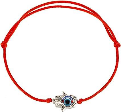 Amazon.com: kelistom Evil Eye Hamsa Hand Red String Bracelet for Protection and Good Luck, Thread/Amulet for Prosperity and Success, Handmade Thread Adjustable Bracelets for Women Men (1): Jewelry