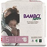 Bambo Nature Premium Baby Diapers, Size 5 (24-55 lbs), 27 Count