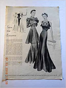 Article Satin For Elegance Womens 1930s Fashion Delineator Magazine Editors Amazon Com Books