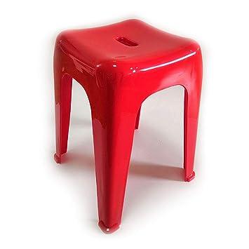 Biezutu Chaise en Plastique Nordique Tabouret, Salle de Bains ...