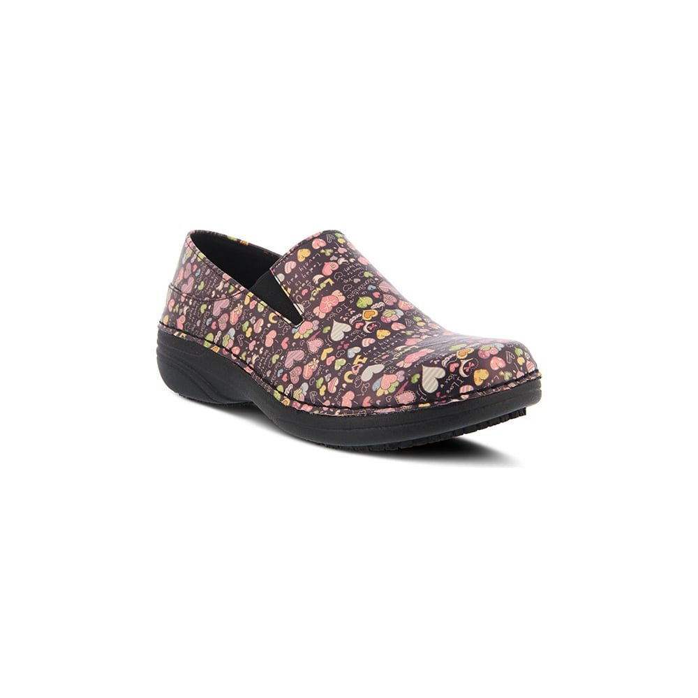 Spring Step Women's Ferrara Work Shoe,Black Multi Love,6