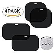 Car Sun Shade (4 Pack),ZACAR Cling Car Window shade for Baby ,Car Sunshade Protector,80 GSM Protect your baby in the back seat from sun glare and heat,2 Pack 20 x12  and 2 Pack 17 x14  for side window