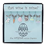 Wine Things 6-Piece EGGxellent Easter Wine Charms, Painted