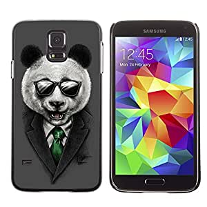 CASETOPIA / Panda Sunglasses / Samsung Galaxy S5 SM-G900 / Prima Delgada SLIM Casa Carcasa Funda Case Bandera Cover Armor Shell PC / Aliminium