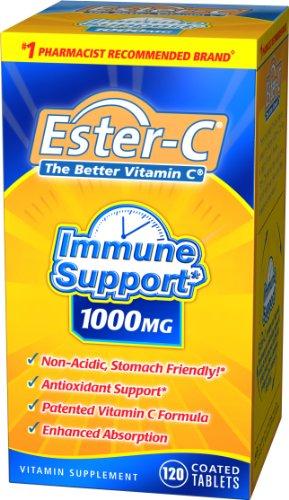 Ester-C La meilleure vitamine C, 1000 mg, 120 comprimés (lot de 2)