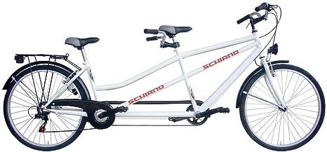 SCHIANO Bicicleta Bicicleta Tandem Rueda 26 Cambio Shimano 7 ...