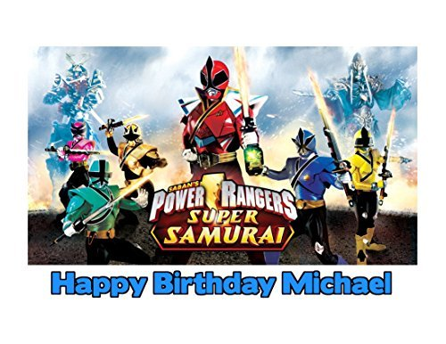 (Power Rangers Super Samurai Image Photo Cake Topper Sheet Personalized Custom Customized Birthday Party - 1/4 Sheet - 79773)