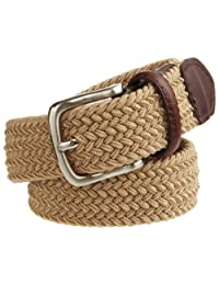 Dockers Big Boys' Braided Elastic Web Stretch Belt
