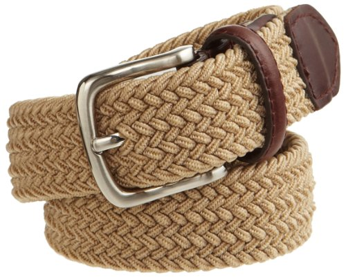 Dockers Men's Big Boys' Braided Elastic-Web Stretch Belt,Khaki,