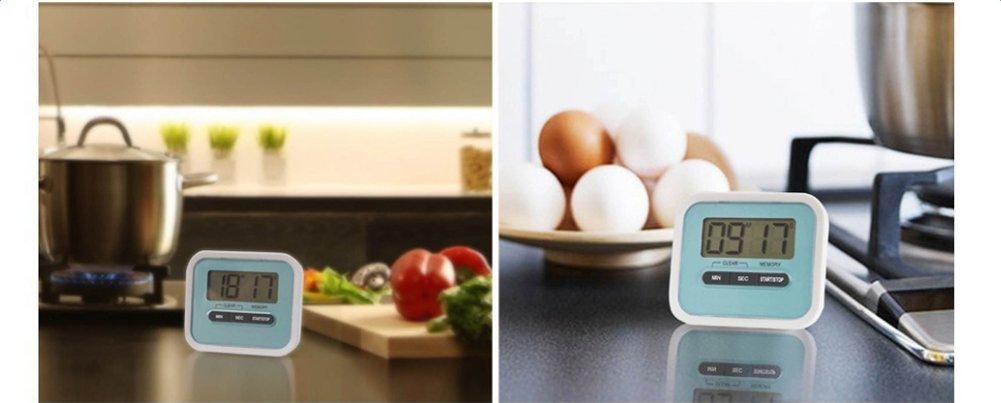 elettronico Timer Magnetico Cottura Timer Studenti promemoria Rosa Rosa Monbedos Timer da Cucina Digitale per Cucina