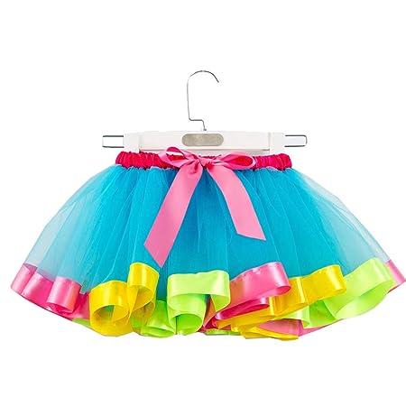 Chicas En Capas Arco Iris Niños Tutu Danza De La Falda Volante ...