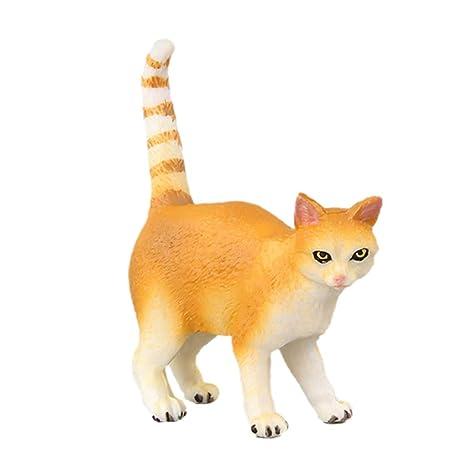 JERKKY Realista Gato Figuras de Acción de Juguete Set Muñeca Mascota Gato Modelo para Niños Niños