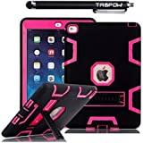 iPad Mini Case, iPad Mini 2 Case, TabPow [Triple Layer][Shockproof][Kickstand][Heavy Duty] Hybrid Rugged Drop Proof Defender Case Cover with Stand For iPad Mini and iPad Mini 2 with Retina, Hot Pink