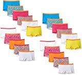 Fruit of the Loom Little Girls' Boyshort (Pack of 22), Assorted, 10