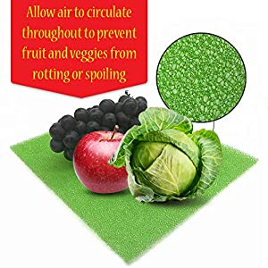Dualplex Fruit & Veggie Life Extender Liner for Fridge Refrigerator Drawers, 12×15 Inches (4 Pack) – Extends the Life of Your Produce & Prevents Spoilage