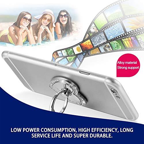 Mouchao Support de Bague de t/él/éphone Portable Unique Support de t/él/éphone Portable Diamant Support Paresseux Titulaire Argent