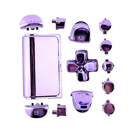 Cewaal Full Buttons Mod Kits Chrome Purple For Sony Playstation 4 PS4 Controller Gamepad Joystick Video Game Accessories