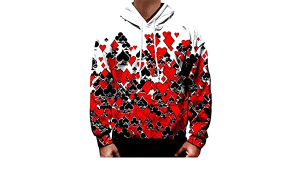 Amazon.com: Red Heart 3D Hooded Pullover Mens Womens Hooded Top: Clothing