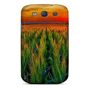 High-end Case Cover Protector For Galaxy S3(wheat Field At Sunset)