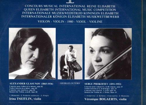 Queen Elizabeth International Competition 1980 (Violin): Irina Tseitlin - Glazunov Concerto; Veronique Bogaerts - Prokofiev Concerto #1