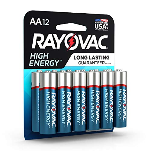 12 Pack Aa Alkaline Batteries - Rayovac AA Batteries, Alkaline Double A Batteries (12 Battery Count)