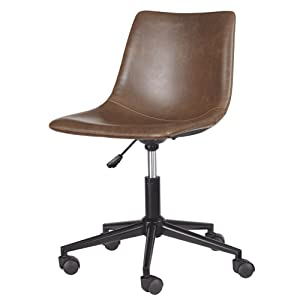 Ashley Furniture Signature Design - Adjustable Swivel Office Chair - Casual - Brown