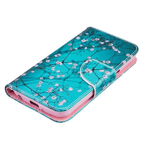 A9H LG K4 funda Tapa,Funda para LG K4 Cover Carcasa Flip Cover Tapa de Cuero de La PU Leather Case de la Cartera con Ranuras para Tarjetas Soporte para LG K4 Smartphone -08HUA