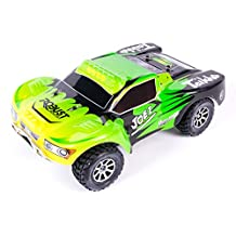 WLToys A969 Vortex 4WD Short Course Truck, 1:18 scale, up to 50km/h, with Fully Proportional Speed & Steering, High Speed, 2.4GHz Remote/Receiver (Green or Silver ships random)