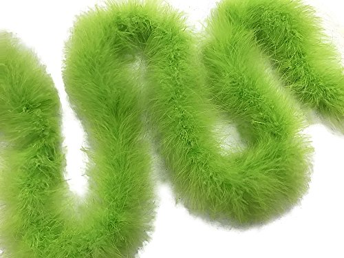 - Moonlight Feather | 2 Yards - Lime Green Turkey Medium Weight Marabou Feather Boa, 25 grams for Halloween, Costume, Party and More