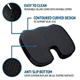 Seat Cushion Memory Foam - Soft. Orthopedically