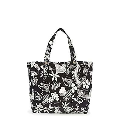 NEW AUTHENTIC POLO RALPH LAUREN X LARGE UNISEX CANVAS BEACH SHOPPING TOTE (Black/Luau)