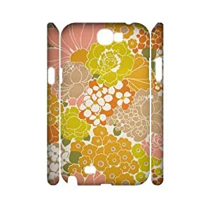 Retro Floral Flower 3D-Printed ZLB537107 Customized 3D Phone Case for Samsung Galaxy Note 2 N7100