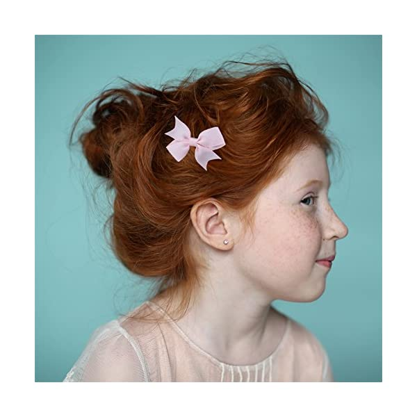 """QtGirl 24-40pcs 2"""" Pinwheel Hair Bows Boutique Grosgrain Ribbon Pigtail Hairbows with Alligator Clips for Baby Girls Toddlers Kids in Pairs"""