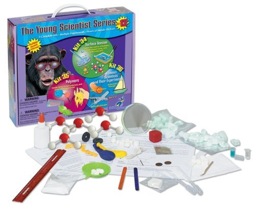 Young Scientist Series - Set 12  Surface Tension Tension Tension (Kit 34) - Polymers (Kit 35) - Famous Scientists and Their Experiments (Kit 36) by The Young Scientists Club b79a7c