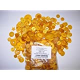 KosiKrafts 1 Bag Of 100g Art & Craft YELLOW Sewing BUTTONS. Various Sizes