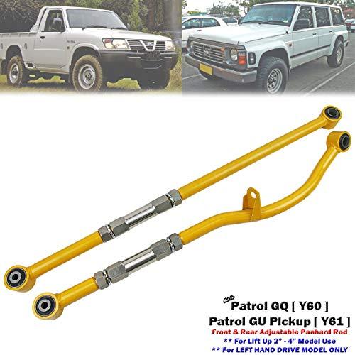"""Front & Rear Adjustable Panhard Rod For Patrol GQ GU Y60 Y61 Lift 2""""-4"""" LHD"""