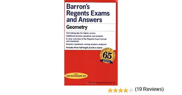 Amazon.com: Geometry (Barron's Regents Exams and Answers) eBook ...