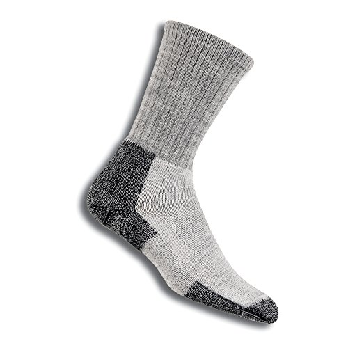 (Thorlos Unisex KLT Hiking Thick Padded Crew Sock, Grey, Large)