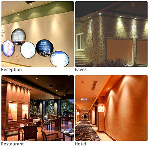 LEDMO 15W Einbaustrahler/LED Einbaulichter Warmweiß Set 2er,LED  Einbauleuchten Einbauspots CRIu003e80,Decke Gehweg Schrank Holzbrücke Küche  Schlafzimmer: ...
