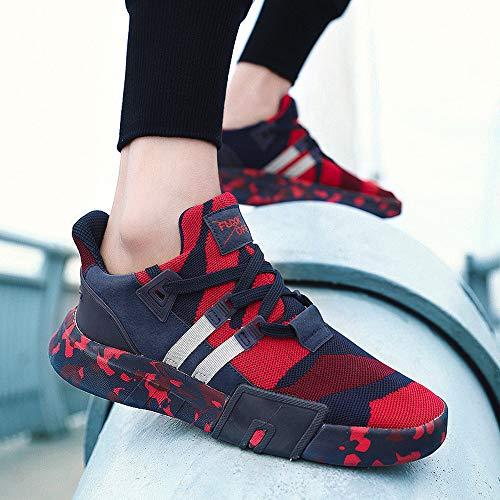 Respirante Pantofola up Nuovo Scarpa Lace Scarpe Ihengh Francesina Running Rosso Sneakers Uomo Vintage Shoes Ragazzo Breathable 2019 Estate Casual Sport Moda Ginnastica Rete Men Pu aUF4qwp85F